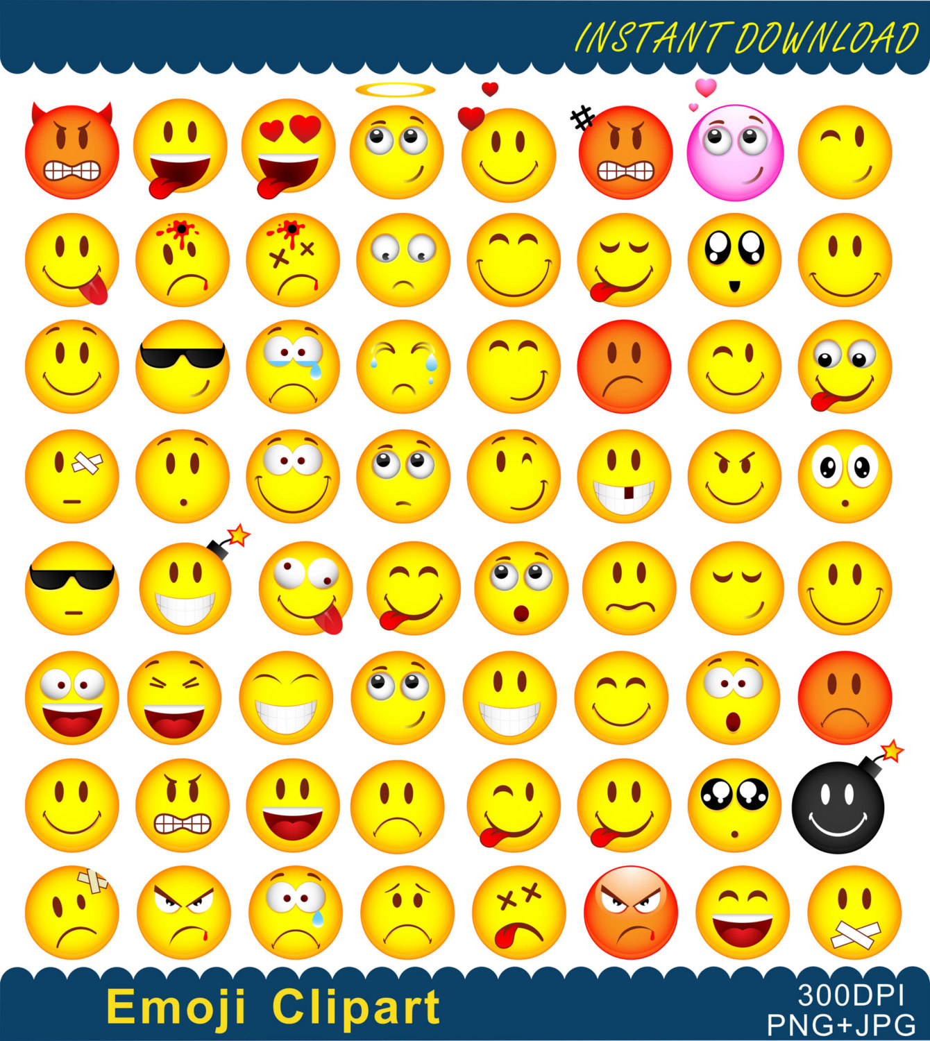 Feelings clipart printable Emoticons Emoji Clip file This