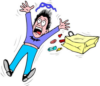 Boy clipart afraid Scared Illustrations free Scary 3