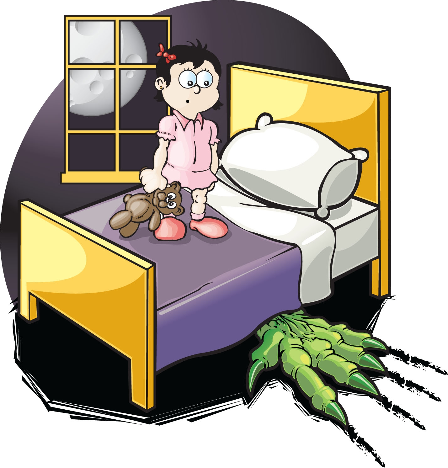 Bed clipart terrified Feeling and you or worried?