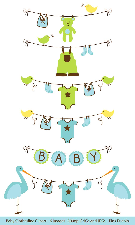 Bluebird clipart baby shower Clip Clothesline art Clip Shower
