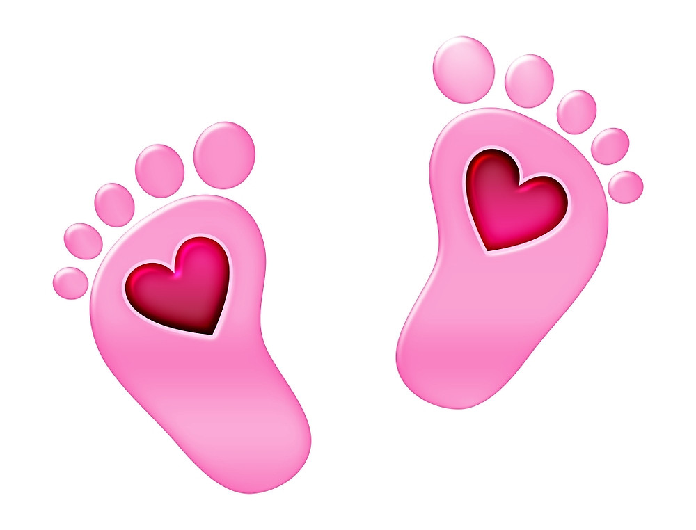 Feet clipart baby foot heart Redbubble feet boom Baby with