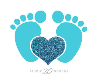 Feet clipart baby foot heart On Free Boy Gallery Download