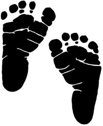 Feet clipart baby foot heart Baby collection Baby footprints print