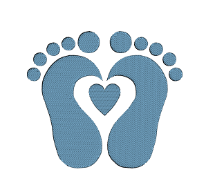 Feet clipart baby foot heart By Foot download Baby Key