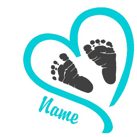 Feet clipart baby foot heart Baby clipart Baby foot baby