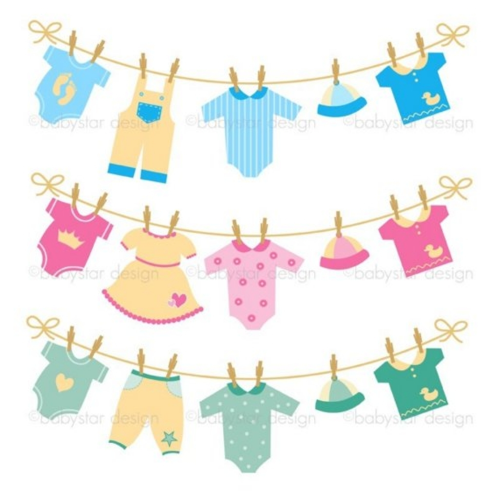 Feet clipart baby onsie Clothesline  clipart clothesline images