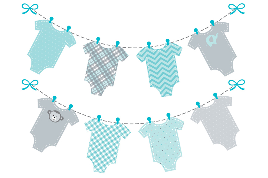 Feet clipart baby onsie Clipart foot shower boy boy