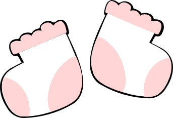 Feet clipart baby shoe Socks Cliparts Cliparts and Pink
