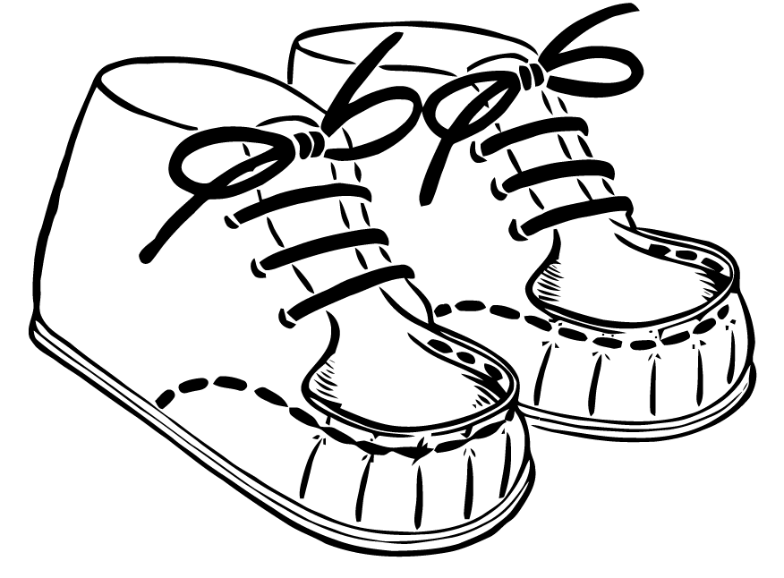 Feet clipart baby shoe Vector from  Art: Free