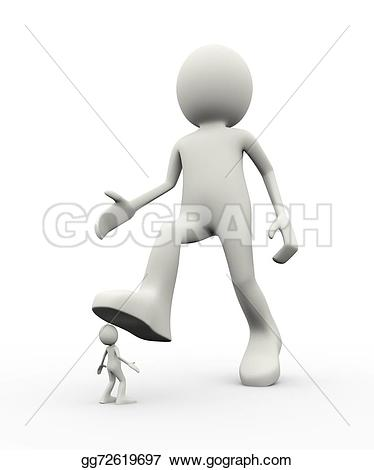 Feet clipart big and small Of 3d employee Clipart people