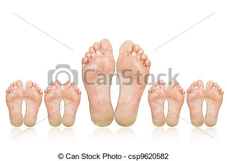 Feet clipart big and small Clip Family The of Art