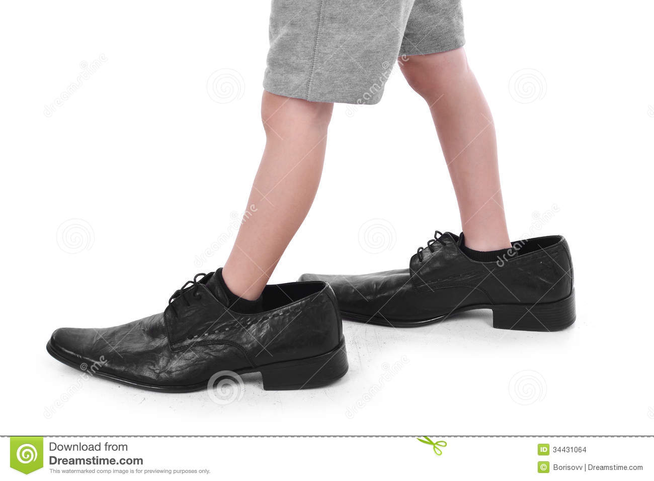 Feet clipart big and small Clipart Walking Big S Boy