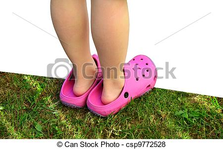 Feet clipart big and small Big feet Small slippers pink