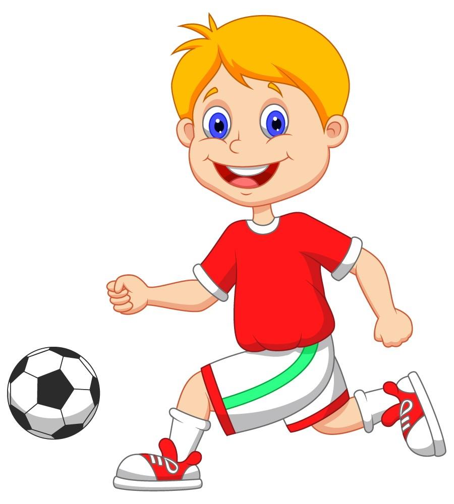 Football clipart kid football Cartoon  Football Images Playing
