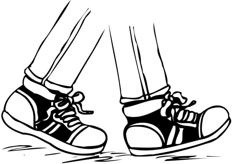 Feet clipart child walking Walking Clip feet Art clipart