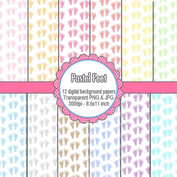 Feet clipart color design Clipart Digital Design Hobby Paper