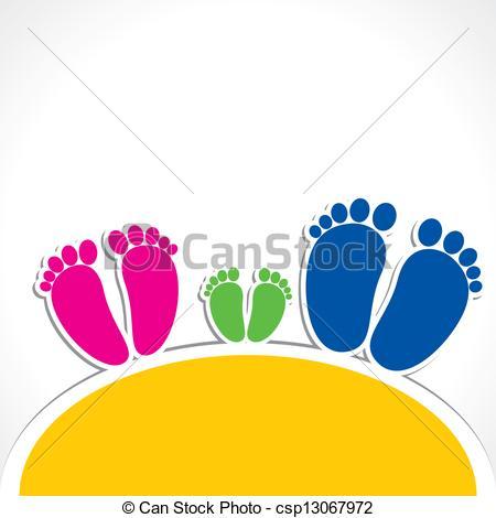 Feet clipart color design  foot of Illustration print