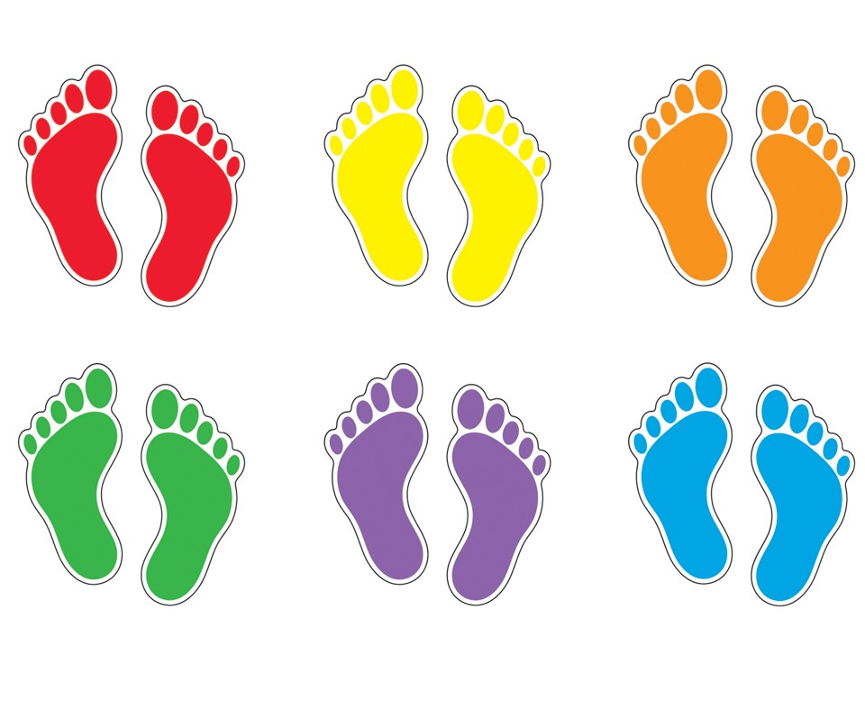 Footprint clipart colored Clip Footprints on Coloured Art