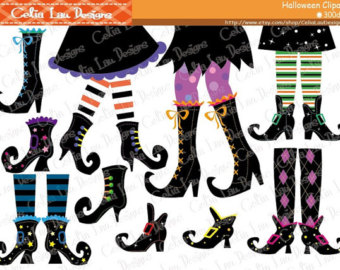 Legs clipart zombie Clip Witch Feet Halloween Happy