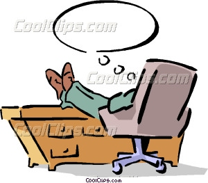 Feet clipart desk Desk man his desk Vector