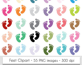 Feet clipart diaper party Clipart Feet Baby Footprints Clipart