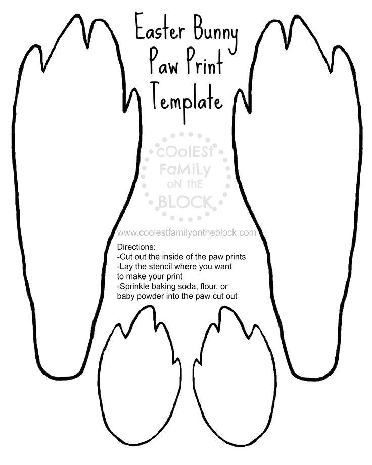 Feet clipart downloadable Footprint clipart Footprint bunny Template