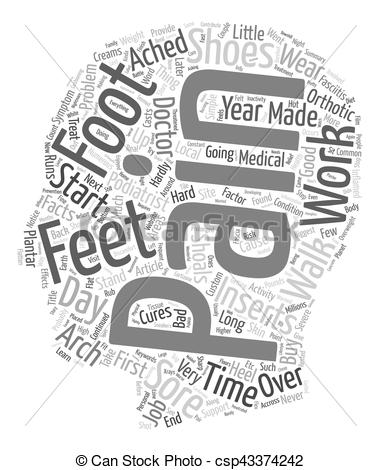 Feet clipart foot pain Of background The and Foot