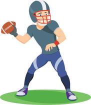 Receiver clipart football quarterback Kb to Football Art