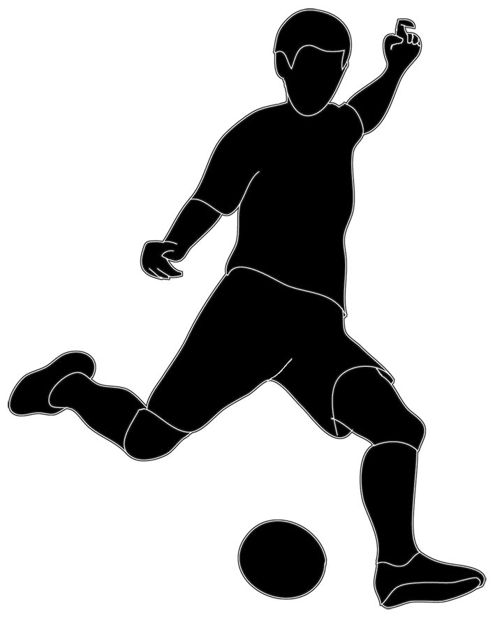 Sport clipart silhouette 3 Clip images football player