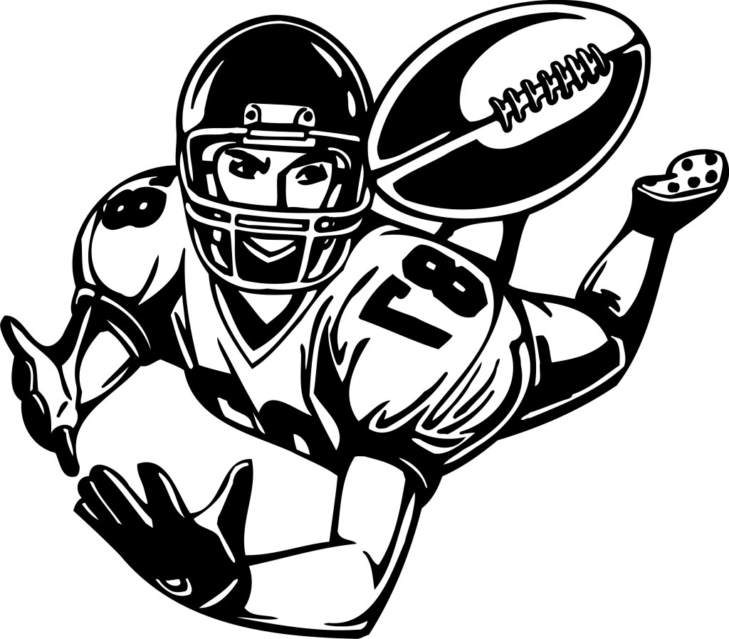 Rear clipart football player Images Art Football Free Clipart