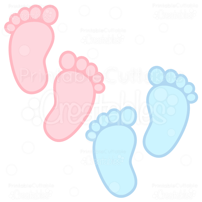 "Footprint clipart baby footprint Files SVG Cutting ""Baby &"