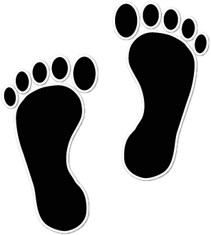 Legs clipart walking foot Foot footprints Baby collection print