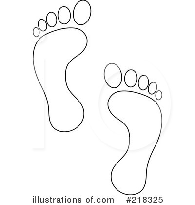 Feet clipart footprint outline By Clipart Savoronmorehead Footprints Pams