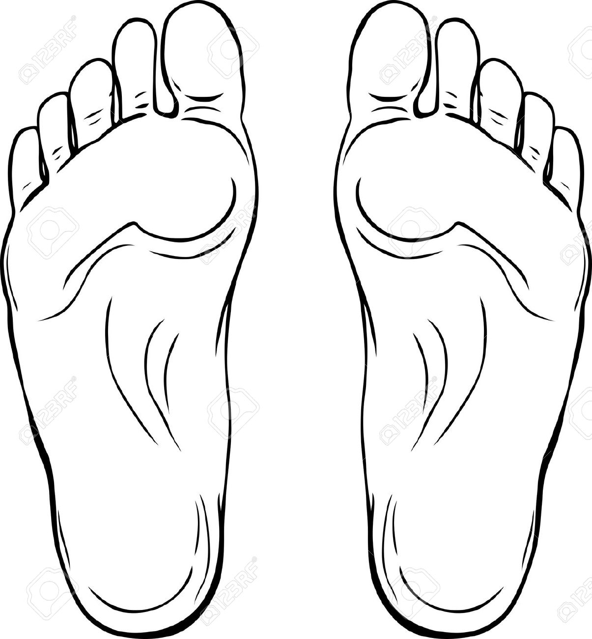 Feet clipart footprint outline Foot Of Images Clipartwork Free
