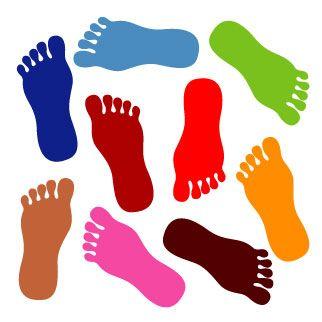 Feet clipart for kid Foot ClipartAndScrap clip art Walking