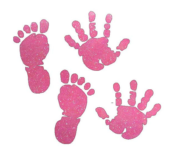 Handprint clipart together  Foot Baby feet Hand