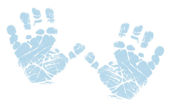 Handprint clipart together  · Blue foot Baby
