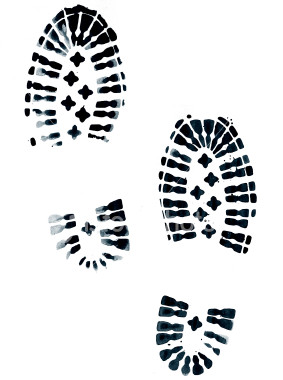 Footprint clipart realistic Download Shoes Footprints Clipart Clipart