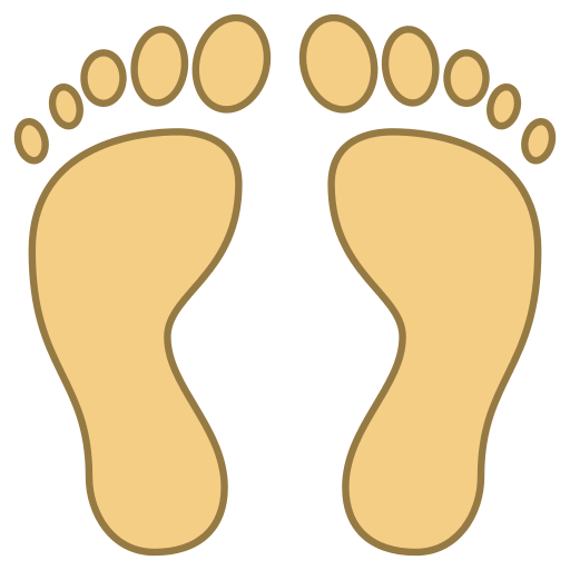 Feet clipart human footprint Two The is Free human
