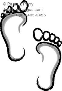 Feet clipart human footprint Human Clip Illustration Footprints of
