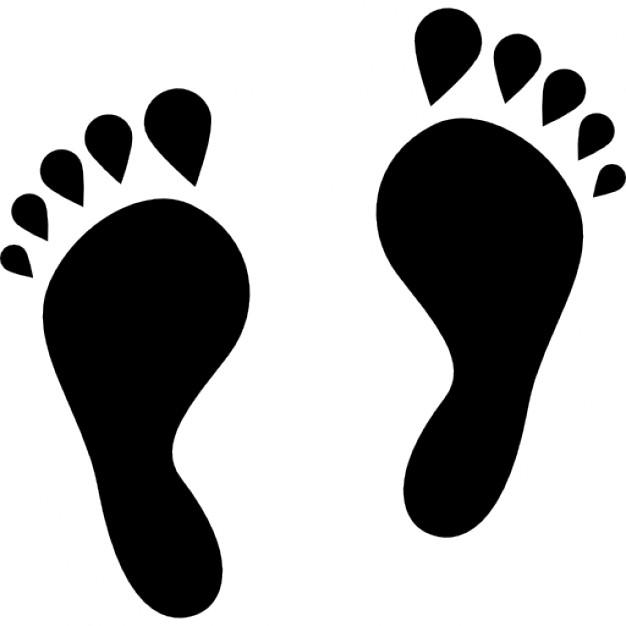 Feet clipart human footprint Files Human shape Vectors Footprint