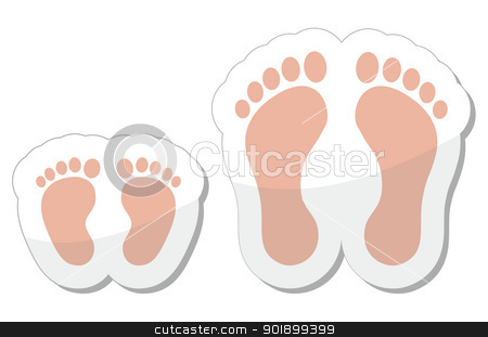 Feet clipart icon Black vector images: adult and
