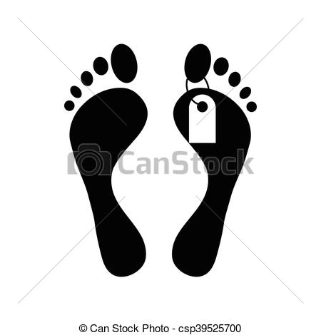 Feet clipart icon Tag toe tag with feet