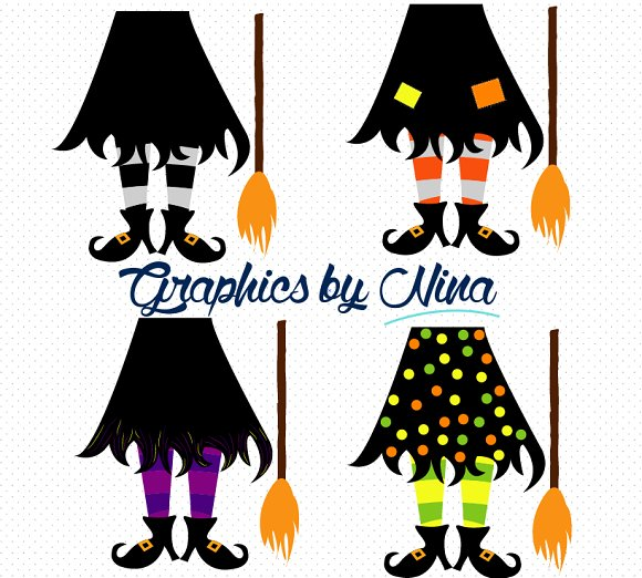 Feet clipart illustration Illustrations Feet on Witch Witch