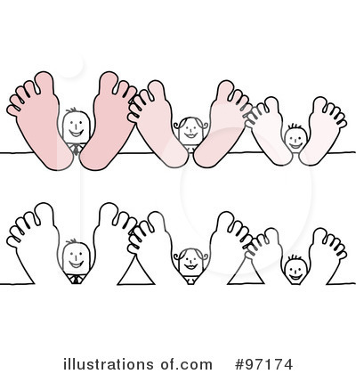 Feet clipart illustration Feet Illustration (RF) shop by