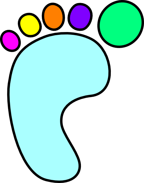 Color clipart foot Art clip Foot art Left