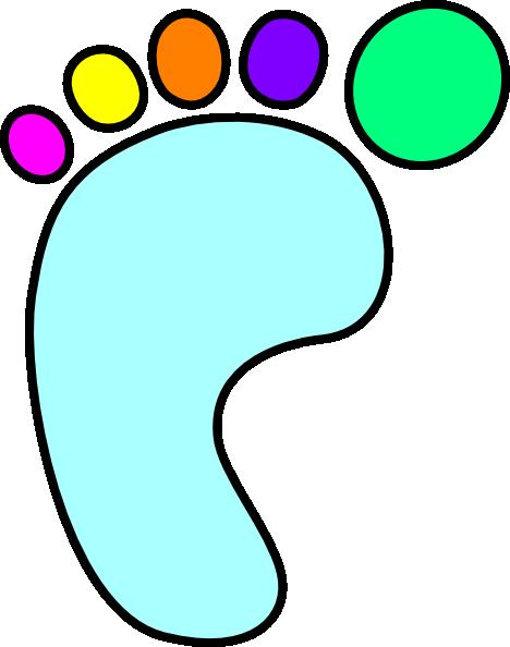 Color clipart foot Art clip vector Foot art