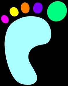 Footprint clipart right foot Art clip foot Foot clip