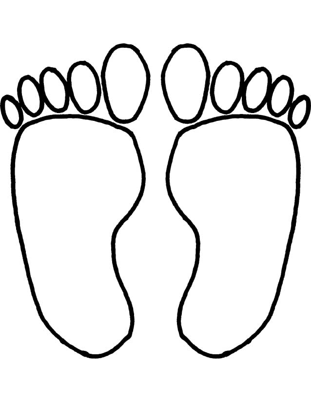 Color clipart foot Free  Download Free Footprints