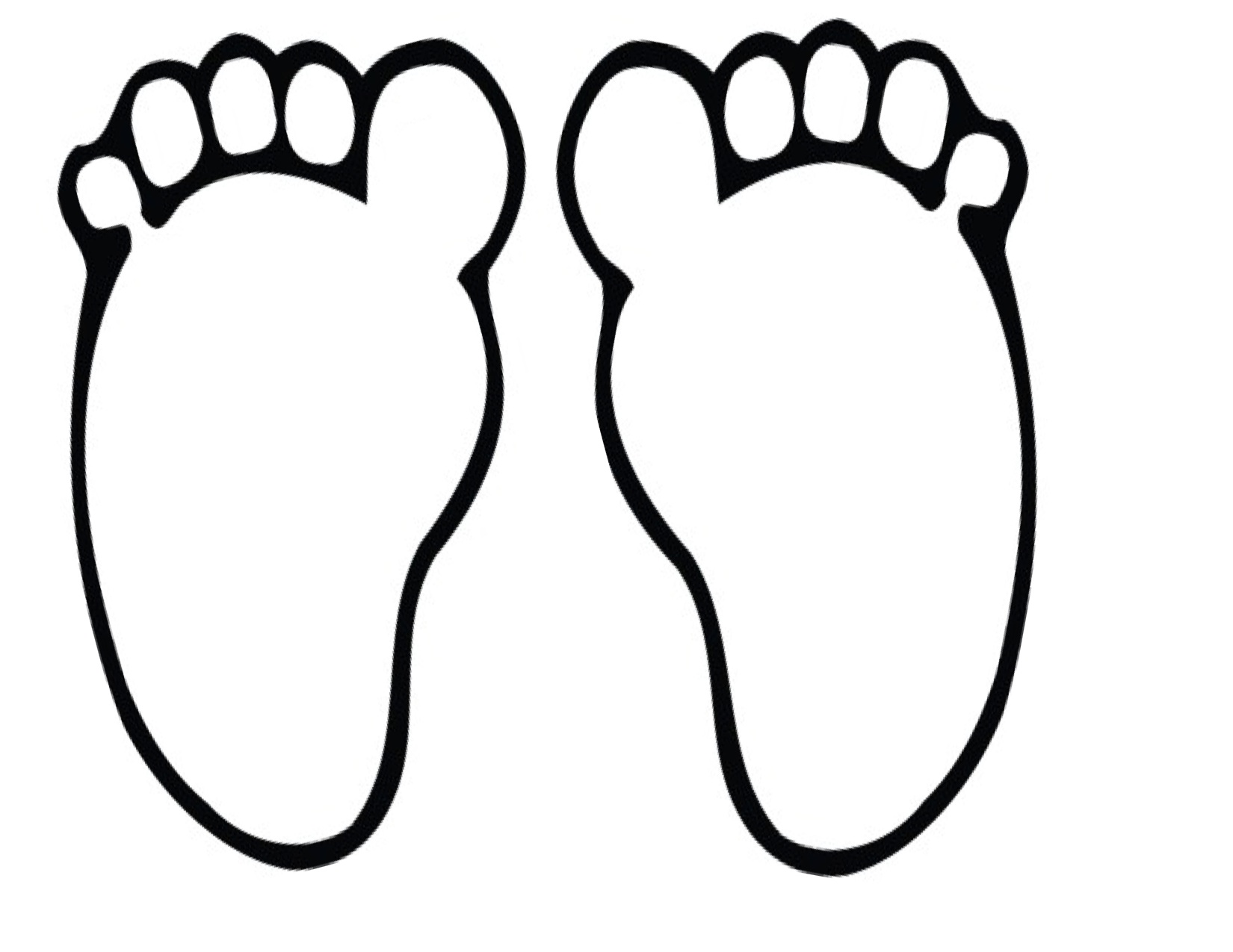 Feet clipart monochrome Feet Foot Clipart collection Clipart